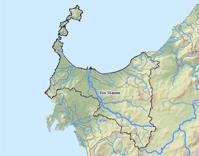 Cartina Sardegna Fiumi.Percorsi